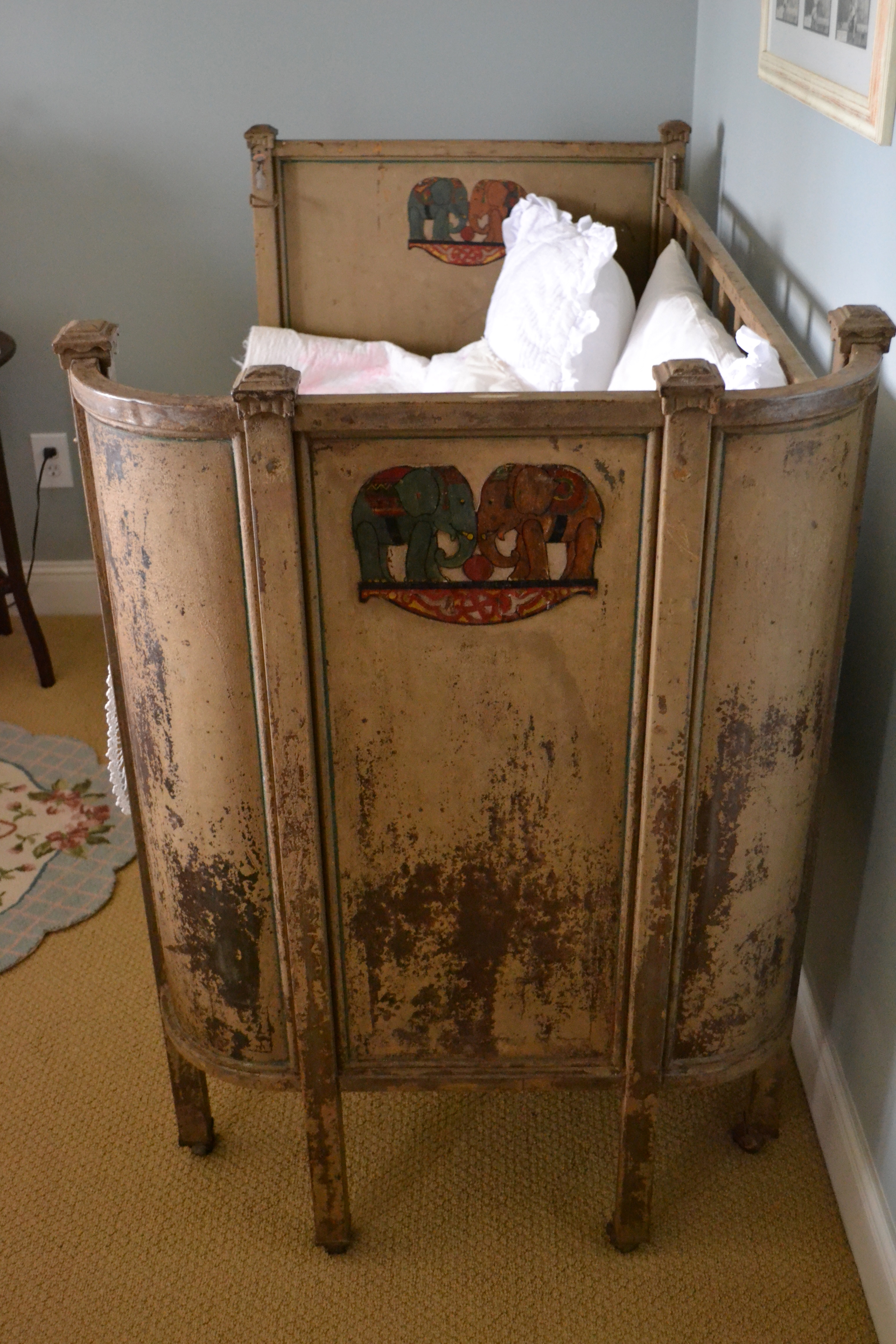 Converted Antique Baby Bed | Love The Giver
