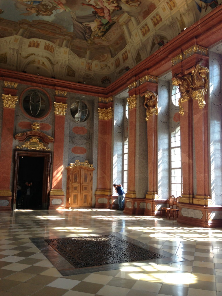 melk room to ourselves
