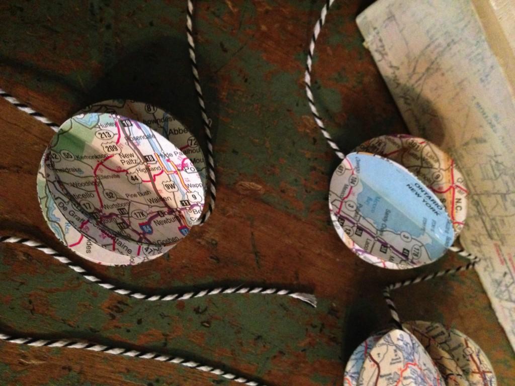 vintage map garland