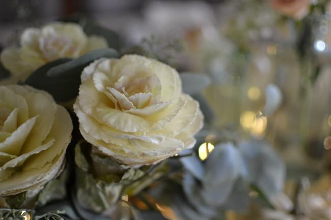 kale roses